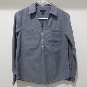 Gap Light Chambray Blue Swing Popover Shirt